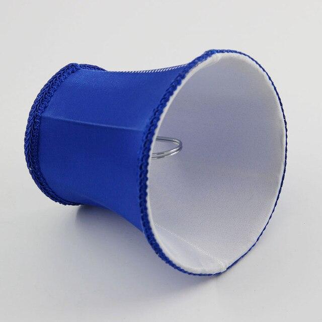 Dia 12 5 Cm 4 92 Pouce Mini Tissu Abat Jour Bleu Couleur Lustres