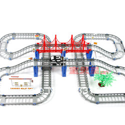 In Stock Christmas novelty Rail car double layer car electric train track toy child O-121
