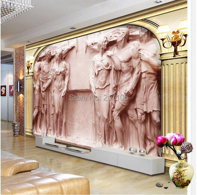 Custom 3D Wallpaper Murals Of European Rome Column Relief Statue Murals For The Living Room TV Setting Wall Vinyl Wallpaper