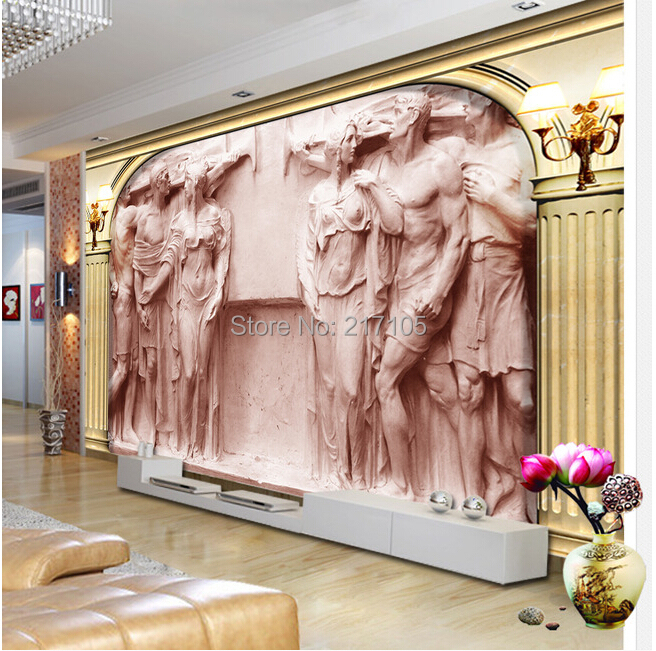 Custom 3D wallpaper murals of European Rome column relief statue murals for the living room TV setting wall vinyl wallpaper new fine fabric texture wall of setting of the bedroom a study wallpaper of europe type style yulan wallpaper fashion pavilion