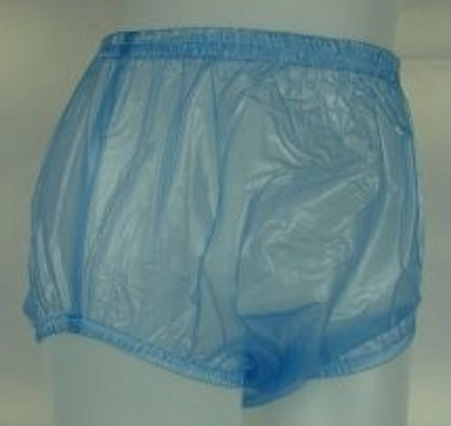 3 Pieces ADULT BABY Incontinence PLASTIC PANTS Blue P005-6T