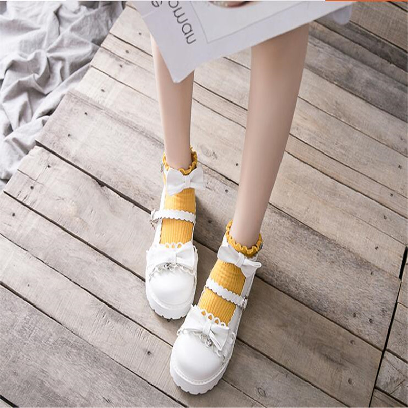Image 5 - bowknot  LOLITA Shoes JK Uniform Shoes PU Leather  lolita Shoes A947-in Shoes from Novelty & Special Use