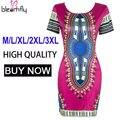 Завод Оптовая Плюс Размер Dashiki Платье для Женщин Африканских Традиционных Одежда 3XL Женский Печати Халат Bazin Riche Индийском Стиле