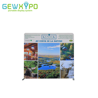 8ft*8ft Straight Tension Fabric Banner Display Wall With Full Color Printing,Trade Show Portable Aluminum Tube Backdrop Stand