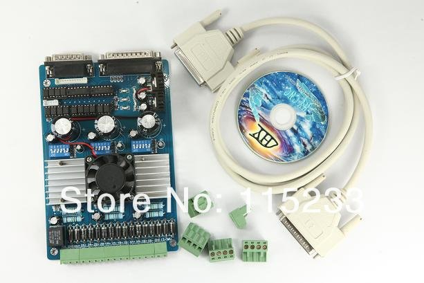 TOP: Free shipping 3 axis TB6560 3.5A CNC engraving machine stepper motor driver board <font><b>16</b></font> <font><b>segments</b></font> stepper motor controller image