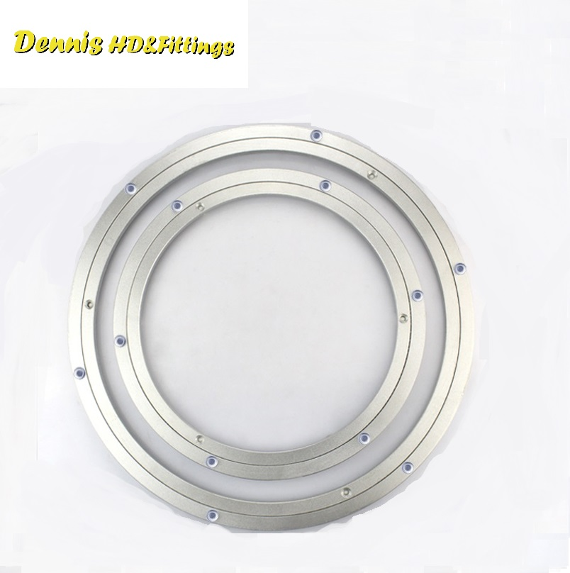 Premintehdw New Design Lazy Susan Aluminum Ball Bearing Turntable Bearings Swivel Plate 4pcs new for ball uff bes m18mg noc80b s04g