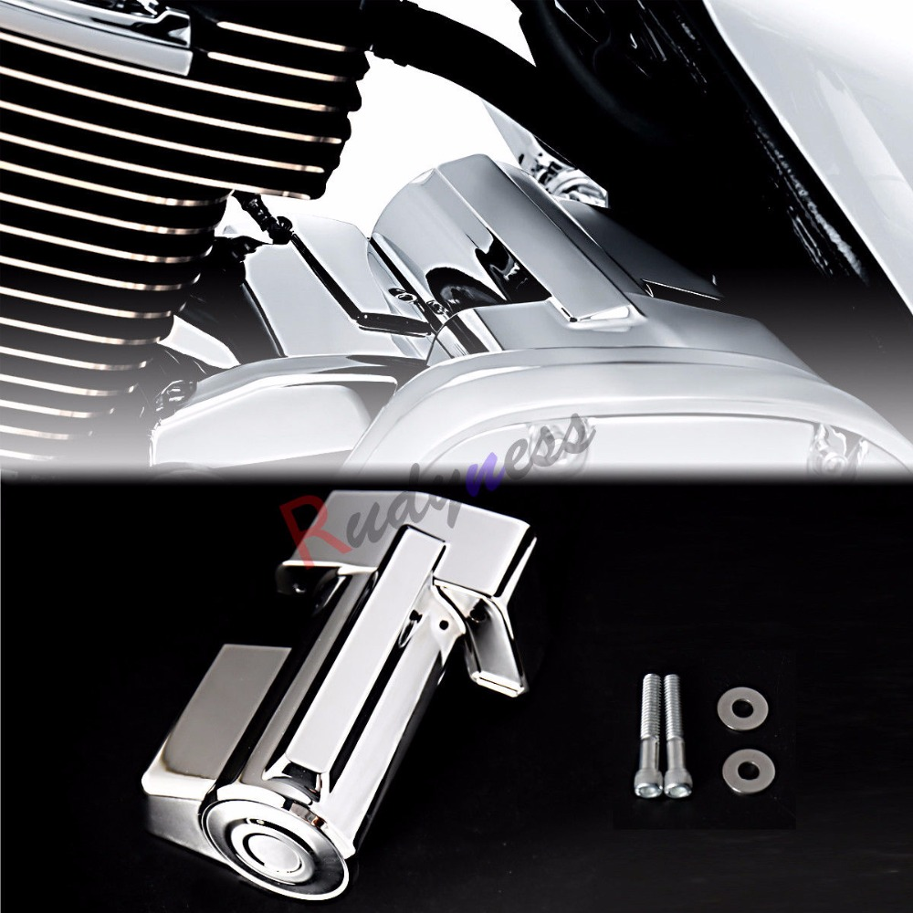 Chrome Starter Cover For Harley Touring Street Glide Road King Road Glide ELectra Glide Trikes FLHX FLHR 2017-2018 abs hard saddlebags latch keys for harley road king electra street glide 14 18