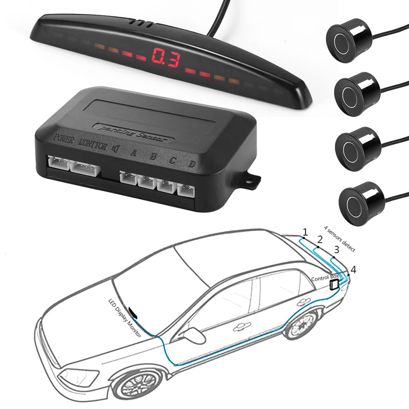 YASOKRO Parktronic Auto Detektor Auto Led-anzeige Parkplatz Sensor Kit Umge Assistance Backup Radar-Monitor Parkplatz Auto-detektor