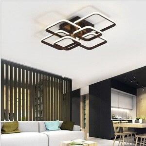 Image 3 - Plafonnier rectangulaire en acrylique et aluminium, plafond moderne à LEDs lumières blanches, idéal pour un salon ou une chambre à coucher, AC85 265V