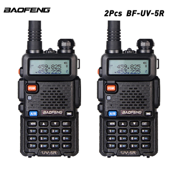 2PCS Baofeng BF-UV5R Amateur Portable Walkie Talkie 5W Two Way Radios 128CH VHF/UHF Dual Band 136-174/400-520MHz Transceiver