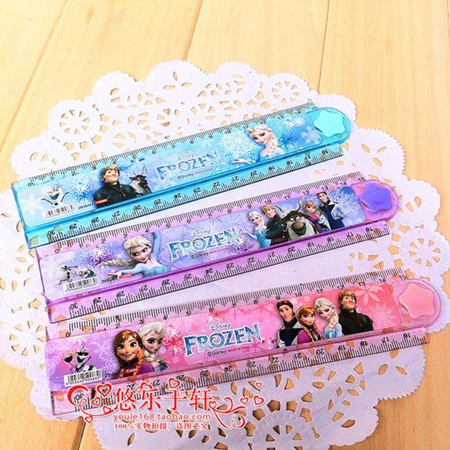 Disney 3pcs Cartoon Frozen Princess Plastic Ruler Children Gifts School Supplies 30Cm Folder Drawing Template Stationery
