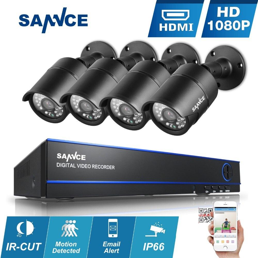 SANNCE 8CH 1080P CCTV font b Security b font System AHD 8 Channels H 264 HD