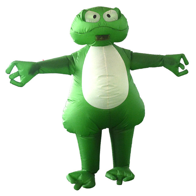 Rana inflable traje inflable sapo chubsuit volar divertido Halloween verde  selva animal Cosplay traje para adultos 1f1198f5c37a