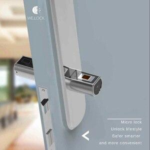 Image 4 - 2020 חדש עיצוב L5SR Plus בית אינטליגנטי חכם צילינדר Bluetooth אלקטרוני טביעות אצבע צילינדר דיגיטלי מנעול דלת