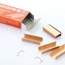 12#24/6 скобы розово-красные металлические скобы 1000 шт бумажный степлер скобы подходит для 30 листов A4 Papper