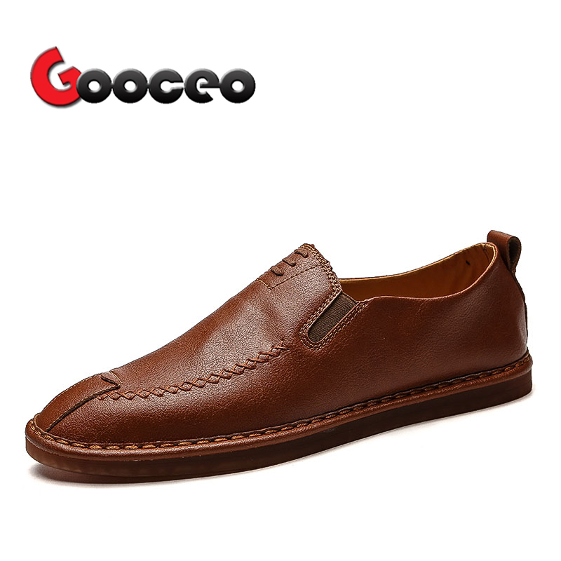 Mens penny Loafers Driving Shoes Moccasins For Men Flat Spring Summer Low-top Slip-On Fashion Flats Leather Light Handmade Mens