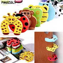 5pcs Kids Edge Corner Guards Baby Animal Jammers Stop Edge Corner Guards Door Stopper Holder lock baby Safety Finger Protector