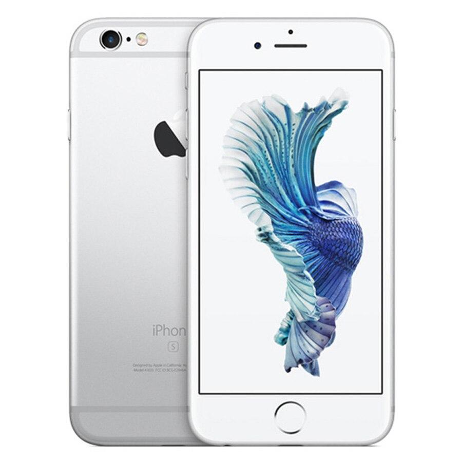 """Apple iPhone 6s ОЗУ 2 Гб 16 Гб ПЗУ 64 Гб 128 Гб 4,"""" iOS двухъядерный 12,0 МП камера отпечаток пальца 4G LTE разблокированный мобильный телефон 6s - Цвет: Silver"""