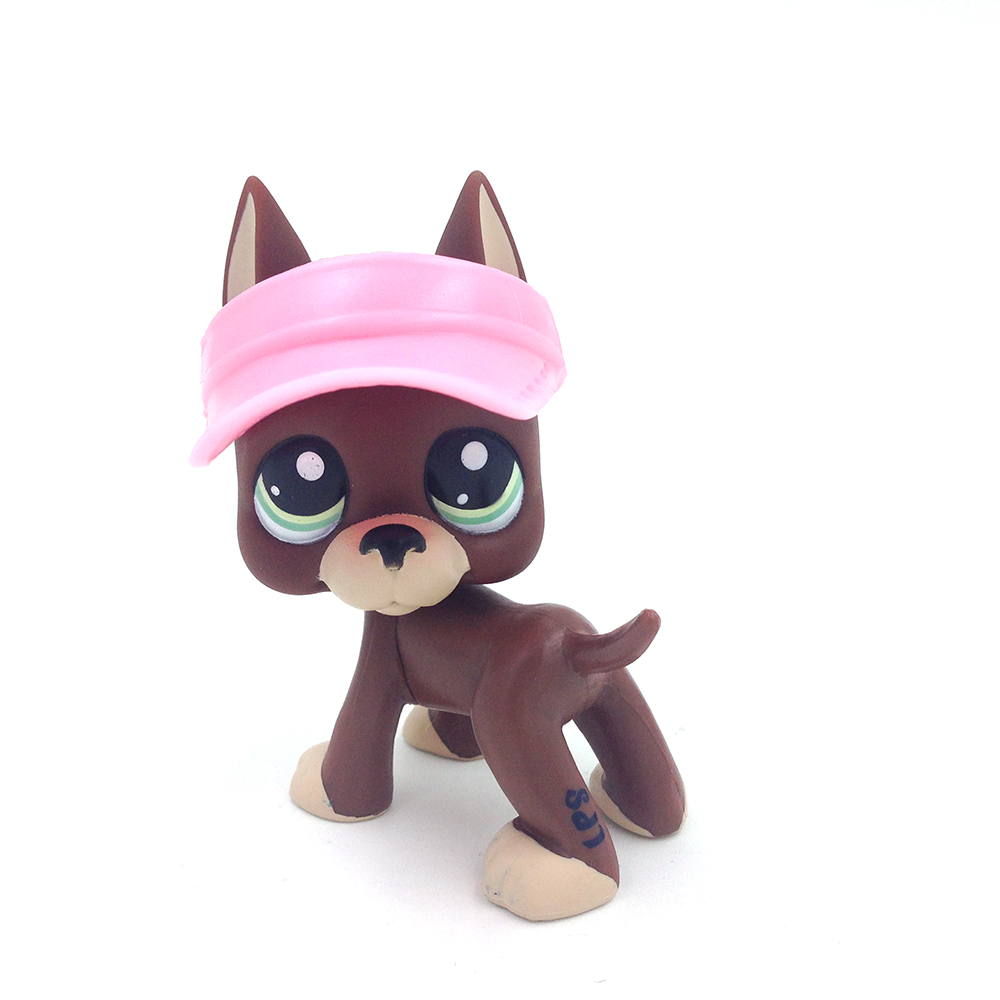 LPS RARE Brown Great Dane Dog Puppy Blue Eyes LPS with Fashion Accessories new pet genuine original lps 58 brown collie dog puppy blue eyes lps kids toys