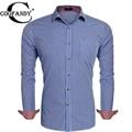 COOFANDY Men Print Plaid Shirts Brand Long Sleeve Plaid Slim Fit Casual Button Down Shirt US Size S/M/L/XL/XXL Red, Blue