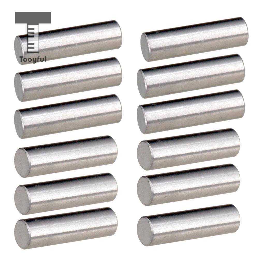 Tooyful 12pcs Alnico 5 Pickup Polepiece Magnet Slug Rods 18mm para - Instrumentos musicales