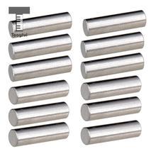 Tooyful 12 հատ Alnico 5 Pickup Polepiece Magnet Slug Rods 18mm էլեկտրական կիթառի բաս մասերի համար