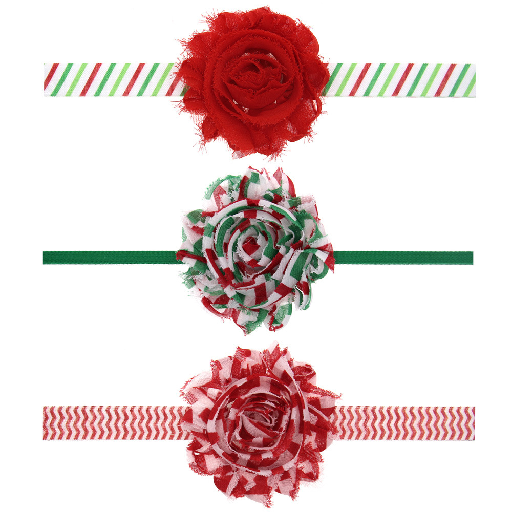50PCS/LOT Lovely Floral Chiffon Flower Christmas Hair Bows Headband kids Hair Accessories Best Merry Christmas DIY Headwear metting joura vintage bohemian green mixed color flower satin cross ethnic fabric elastic turban headband hair accessories