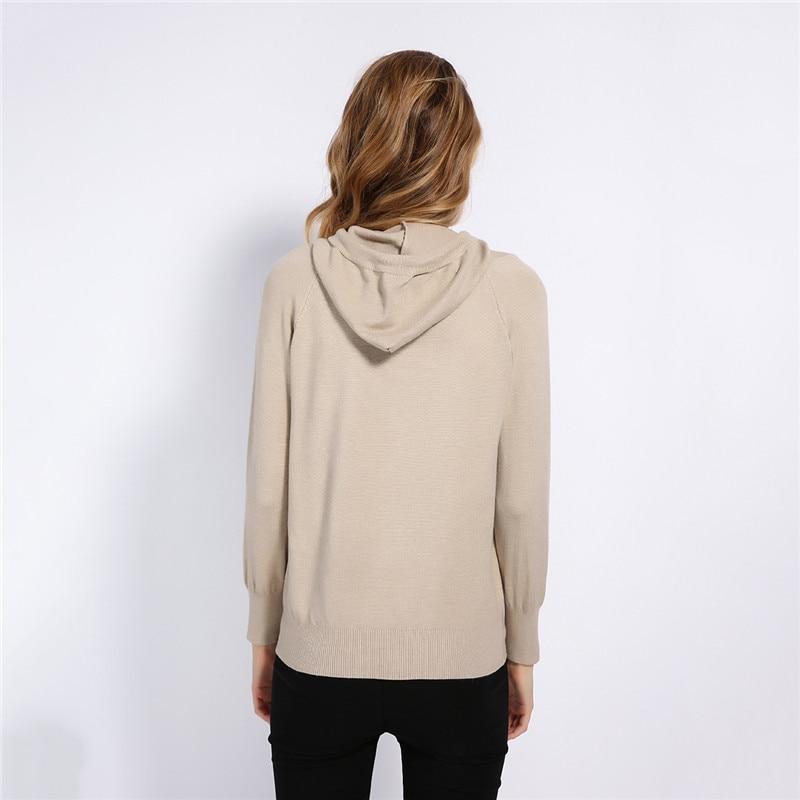 GCAROL Fall Winter Girls Knit Pullover 30% Wool Hooded Sweater High Street Candy Women Render Knit Jumper Knitwear 7