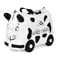 Kids Toys Trolley Suitcase boys girls Luggage Bag Wheels Travel Case Children's Scooter Suitcase