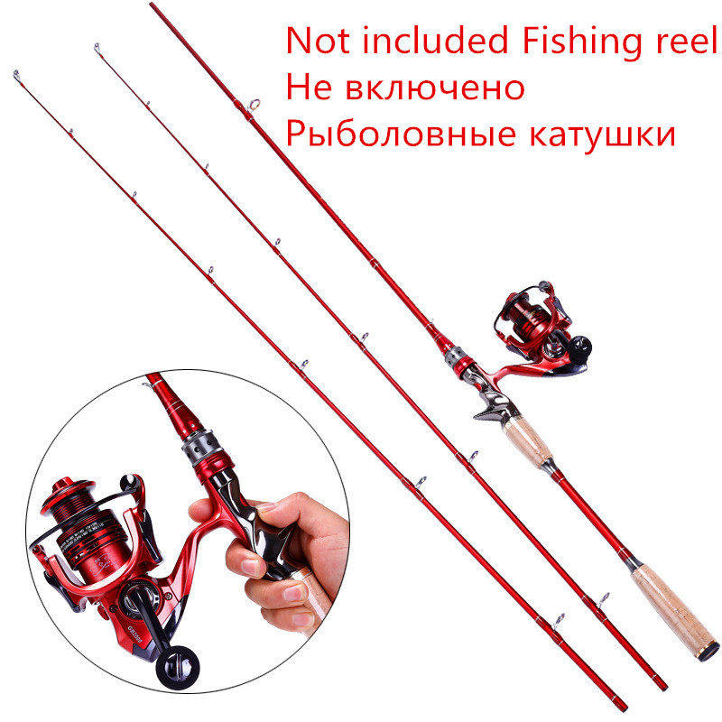 High Carbon Med light action Casting Rod 2 tips 2 1m Fast Action lure wt 1