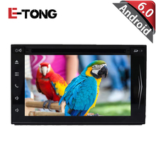 Car Stereo Android 6.0 For Universal Two Din Car DVD Player GPS Navigation with Bluetooth Radio Steering Wheel Rearview Camera