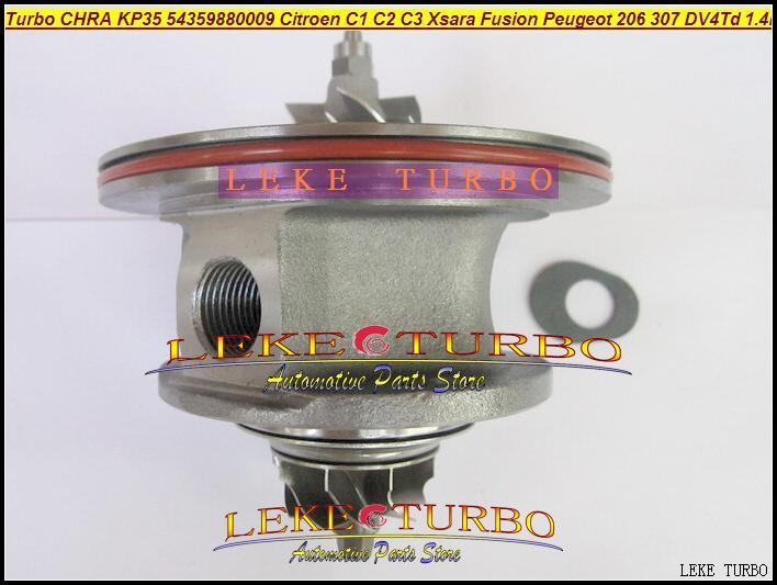 Free Ship Turbocharger Cartridge Turbo Chra Core KP35 54359880009 54359700009 For Ford Fiesta Peugeot 206 Citroen C3 DV4TD 1.4L