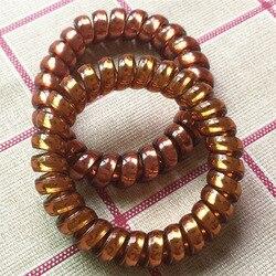 Bandeau élastique de cheveux pour femmes | Bracelet de cheveux de couleur vive châtain, style spirale, mode, cravate, ligne de cheveux en fil