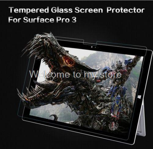0.3 MM 2.5D 9 H Ultra Delgado Protector de Pantalla de Cristal Templado de Seguridad película para microsoft surface pro 3 12 pulgadas pelicula de vidro