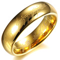 new 15pcs Gold the Lord of The Rings Mens 316L top stainless steel Jewelry band rings wholesale lots