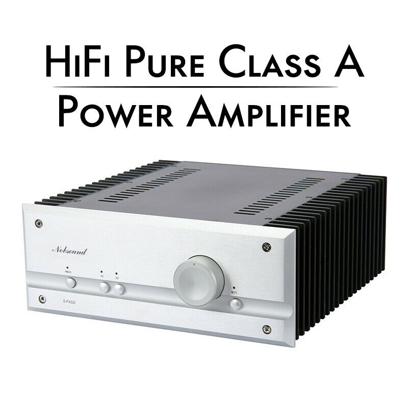 Nobsound Hi-end 2-IN-1-OUT Pure Class A Power Amplifier HiFi Stereo Home Amp 35WX2 Inspired by excellent PASS circuit design