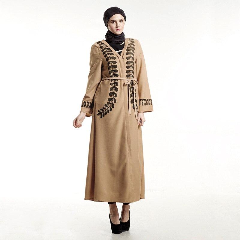 f0b8cd71f2d9 Moda Araba Turchia Donne Vestito Allentato Abito Musulmano Stampato Elegante  Islam Abiti Cintura Abbigliamento Donna in Moda Araba Turchia Donne Vestito  ...