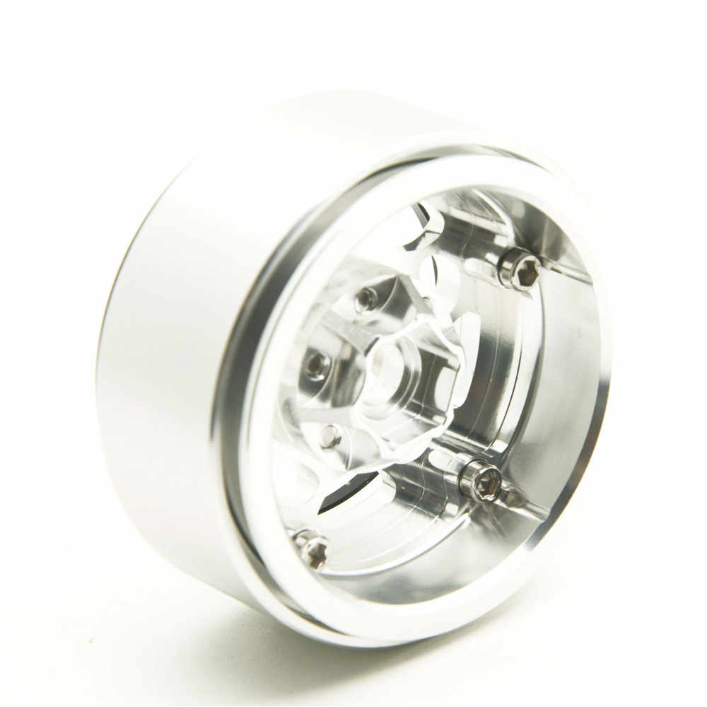 1 Stks CNC Legering Metalen 1.9 Velg 1.9 inch Velgen Hub RC Auto-accessoires voor 1/10 RC D90 SCX10 CC01 D110 Rock Crawler