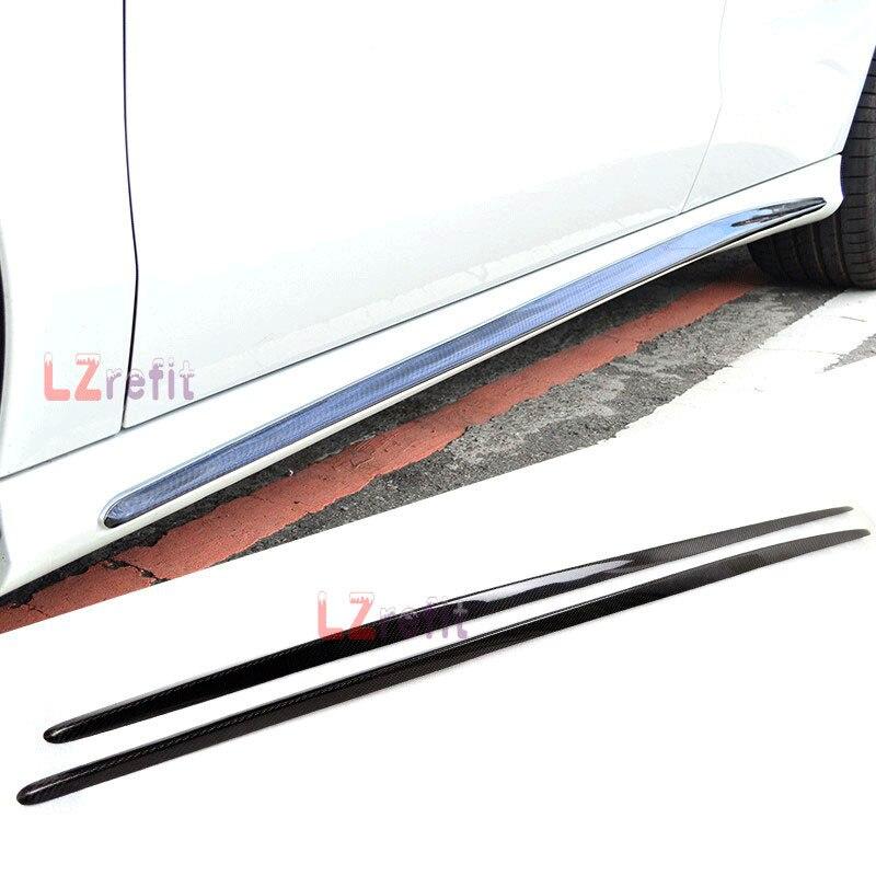 Véritables jupes latérales en FIBER de carbone pour MERCEDES BENZ W117 CLA AMG Sport 14-16