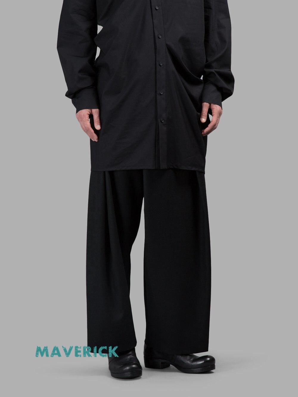 Moda Pierna Más Estilista Negro 2017 De La 44 27 Tamaño Hombres Pantalones Nuevo Ropa Dj Anchos Cantante Gd Trajes Los Asimétricas xgFxZXqw