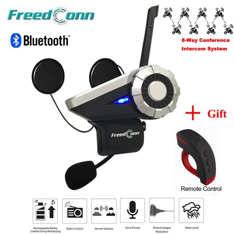 BT Interphone Motorcycle Bluetooth 4.1 Helmet Intercom Headset MP3 FM Radio