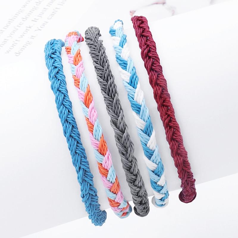 Handmade Wax String Bracelets&Bangles Friendship Bracelets For Women Braided Rope Cord String Bracelet Beach Jewelry Pulseras