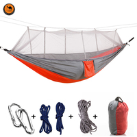 Portable Hammock High Strength Parachute Fabric Hanging Bed With Mosquito Net For Outdoor Camping Travel