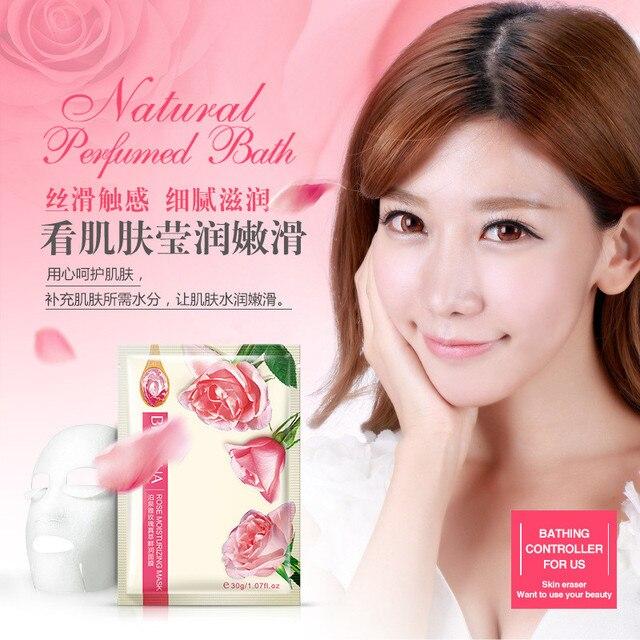 12Pcs BIOAQUA Natural Facial Mask Wrapped Mask Moisturizing Oil Control Shrink Pores Brighten Face Mask Skin Care Face Mask & Treatments