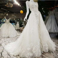 H&S BRIDAL Detachable skirt mermaid wedding dresses romantic bride wedding dress gowns robe de marriage vestidos de novia