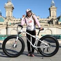 Наивысшего качества 7/21/24/27 Скорость 20x4.0 фэтбайк велосипед, горный велосипед, Велосипеды на толстых колёсах ,Fat Bike .Двойные дисковые тормоза в