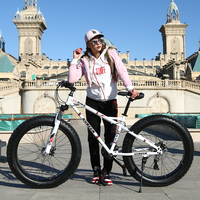 7/21/24/27 Speed 26x4.0 Fat bike Mountain Bike Snow Bicycle Shock Suspension Fork bicicleta