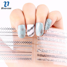 24 Pcs/Lot  Stripe Gliter Diy Decorations For Nails Beauty 3D Nail Art Of Bronzing Stamping Manicure Stickers JH151 Hot Sale