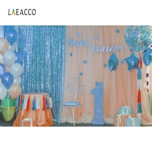 Laeacco Balloons Baby 1st Birthday Photographic Backdrops Party Photocall Backdrop Photography Backgrounds For Photo Studio