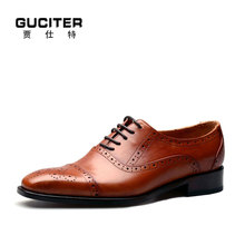 Free shipping Goodyear shoes men pure custom made Italian handmade shoes men yellow brown half block pattern design oxford